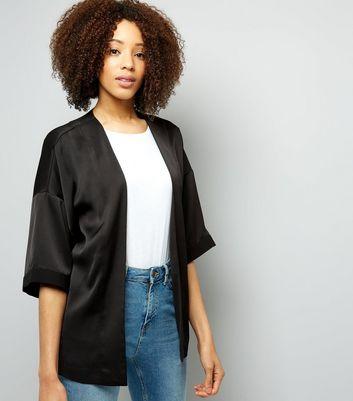 Black Bird Embroidered Blazer New Look