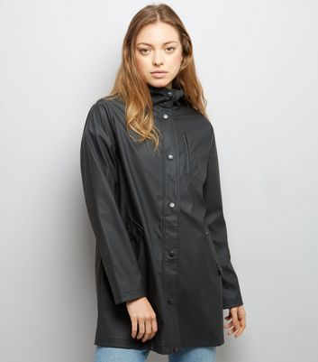 Black Matte Anorak New Look