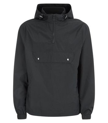 Black Pocket Front Hooded Jacket New Look