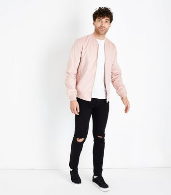 Pink Cotton Bomber Jacket New Look