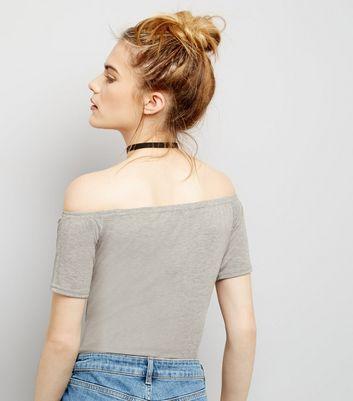 Pink Vanilla Pale Grey Short Sleeve Bodysuit New Look