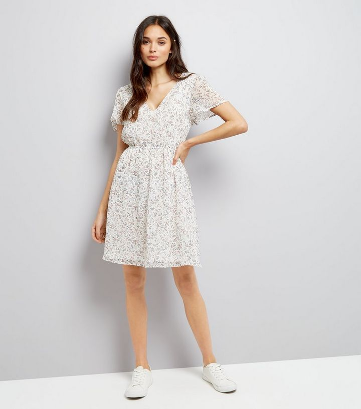 73d2c8552ad White Floral Print Summer Dress Add to Saved Items Remove from Saved Items