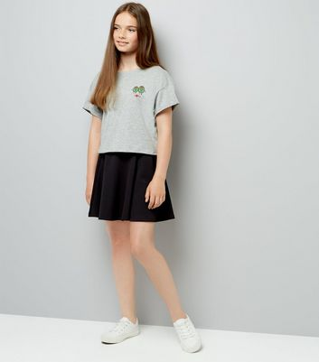Teens Black Skater Skirt New Look