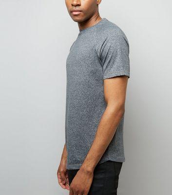 Grey Marl Short Raglan Sleeve T-Shirt New Look