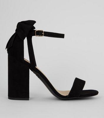 black-suedette-bow-back-heeled-sandals