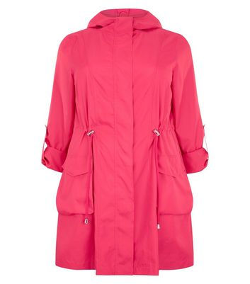 Curves Bright Pink Anorak New Look