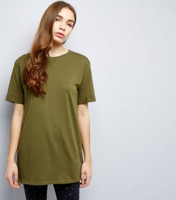 Tall Khaki Oversized T-Shirt New Look