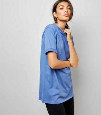 Tall Blue Oversized T-Shirt New Look
