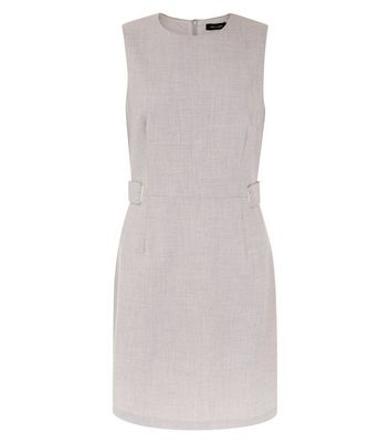Light Grey Sleeveless Shift Dress New Look