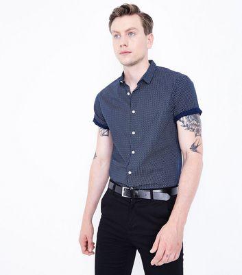Navy Geo Print Shirt New Look
