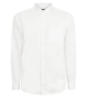 White Washed Cotton Long Sleeve Shirt New Look