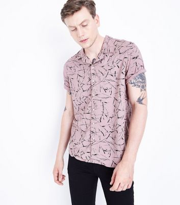 Pink Sketch Print Short Sleeve Shirt New Look