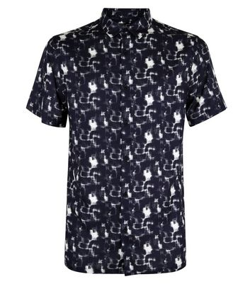 Black Mottled Short Sleeve Shirt New Look