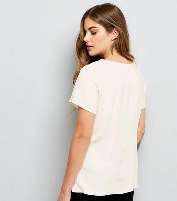Cream Corset Front T-Shirt New Look