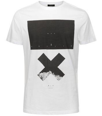 White NYC X Printed T-Shirt New Look