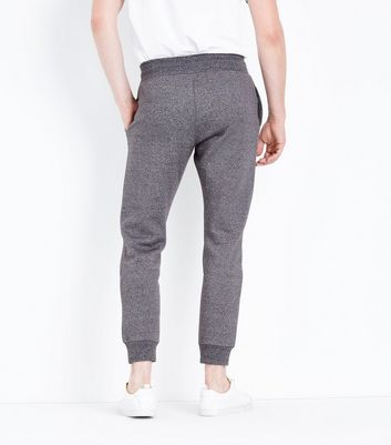 Grey Marl Joggers New Look