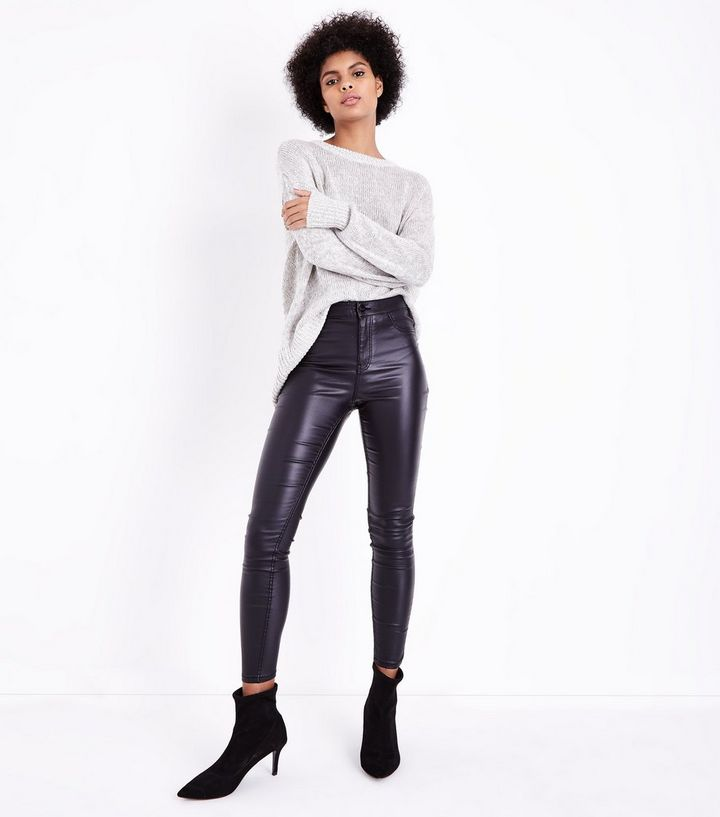 new products for watch perfect quality Black Leather-Look High Waist Skinny Hallie Jeans Add to Saved Items Remove  from Saved Items