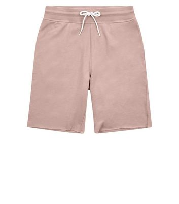 Pink Raw Hem Shorts New Look