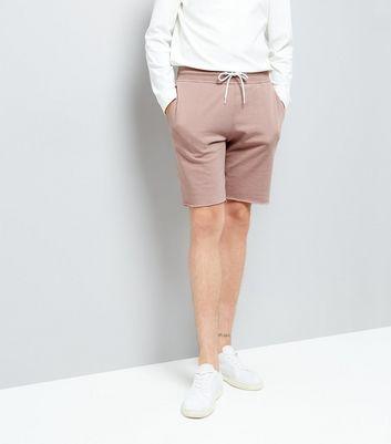 pink-raw-hem-shorts