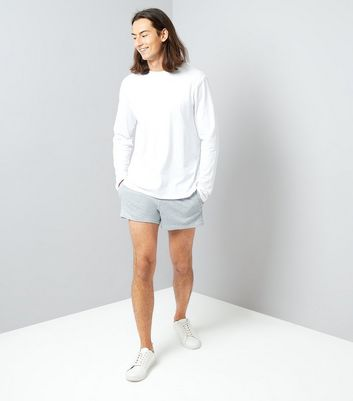 Grey Runner Shorts New Look