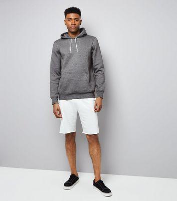 Grey Marl Hoodie New Look