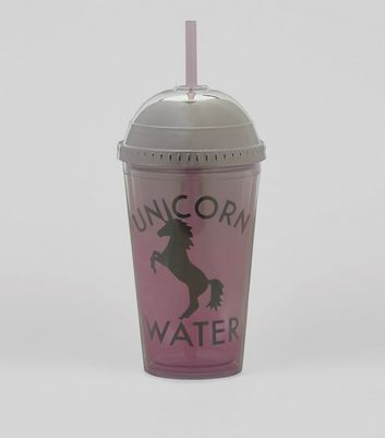 Pink Unicorn Water Cup New Look