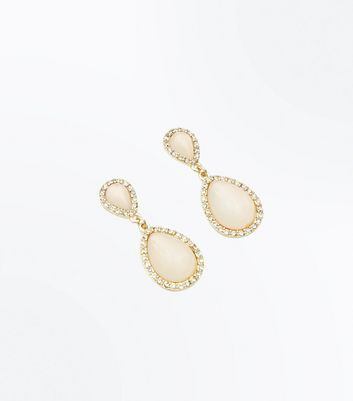 Pink Teardrop Stud Earrings New Look