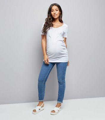 Maternity White Cross Back T-Shirt New Look