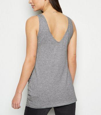 Maternity Grey V Neck Longline Vest New Look