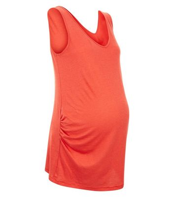 Maternity Red V Neck Longline Vest New Look