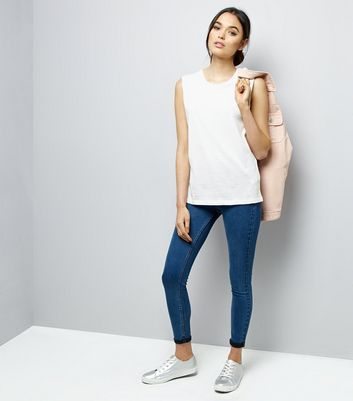 White Sleeveless Top New Look