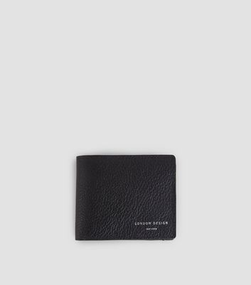 Black Leather Bifold Wallet New Look