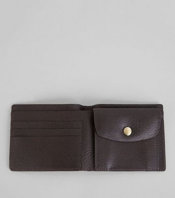 Brown Leather Bifold Wallet New Look