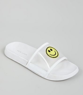 White Mesh Smiley Face Pool Siders