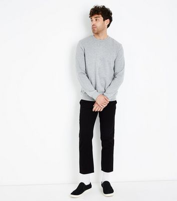 Grey Crew Neck Sweater New Look