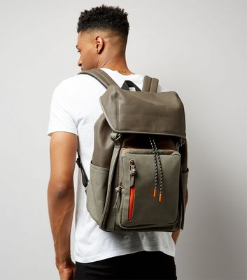 Grey Contrast Trim Backpack New Look