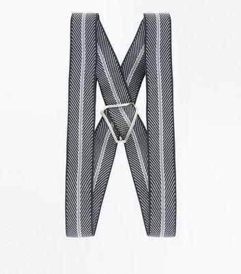 Black Stripe Braces New Look
