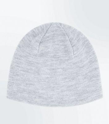 Grey Knit Beanie New Look