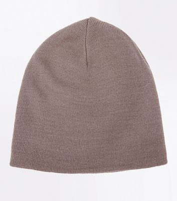 Stone Knit Beanie New Look