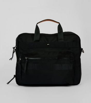 Black Textured Holdall New Look