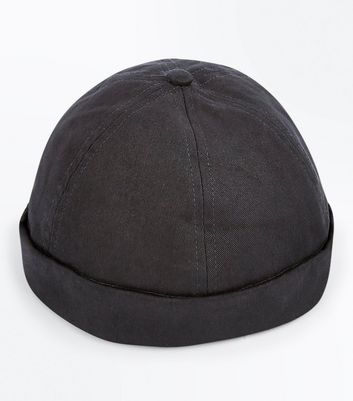 Black Docker Beanie Hat New Look
