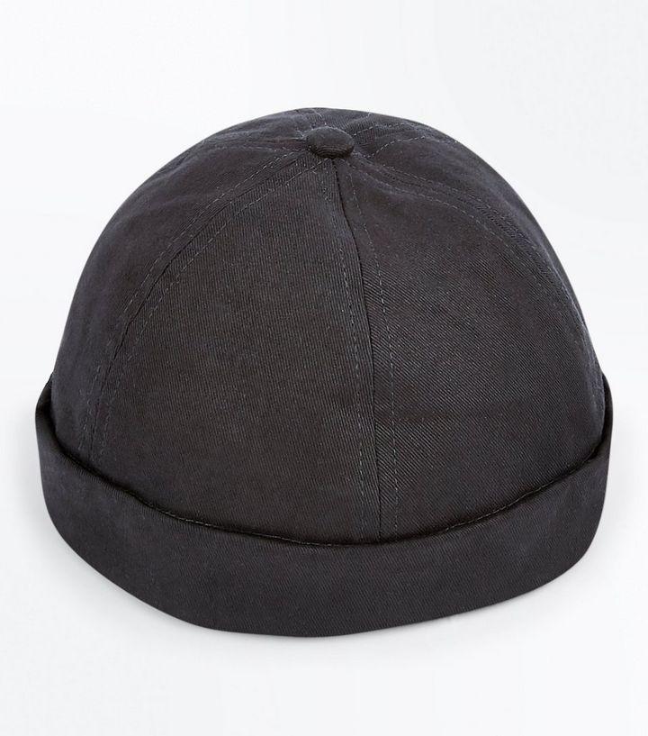 Black Docker Beanie Hat  a7ba31a6534