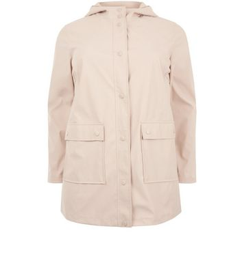 Curves Shell Pink Matte Anorak New Look