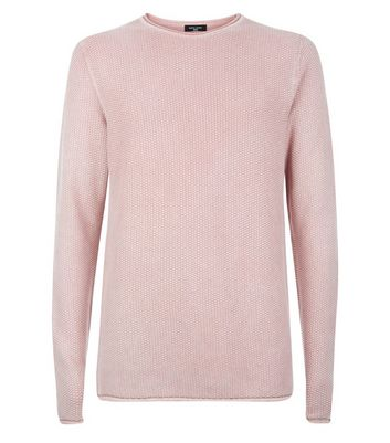 Pink Textured Long Sleeve Top New Look