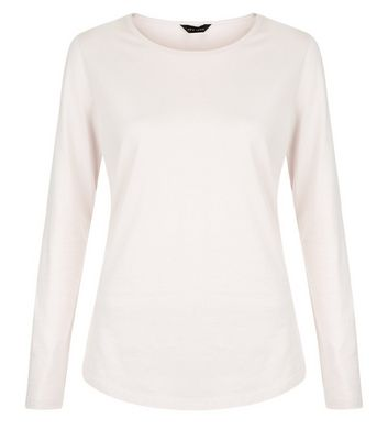 Pink Crew Neck Long Sleeve Top New Look