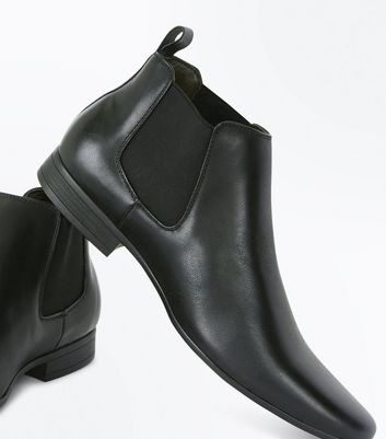 Black Chelsea Boots New Look