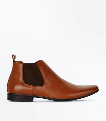 Tan Chelsea Boots New Look