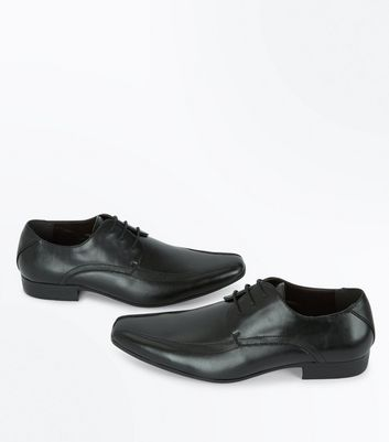 Black Textured Side Gibson Shoes New Look