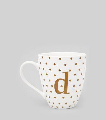White D Initial Mug New Look