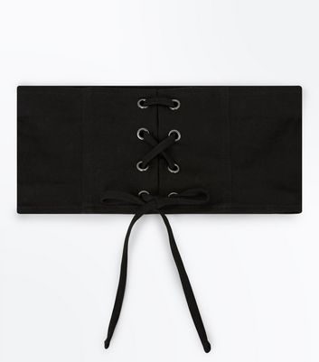 Black Corset Belt New Look